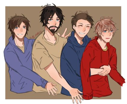 Fan art with Alpah! #1 The boys! by CharlotteAlpha