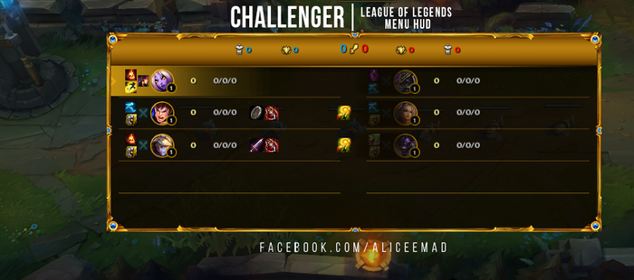 League of Legends Menu HUD - Challenger by AliceeMad