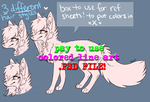 Scene Dog Lineart -PAY TO USE- by QueenAyria