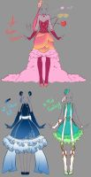 Outfits adopts - Paypal Auction CLOSED by rika-dono