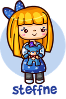 Steffne and Blueted chibi by steffne