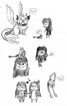 Pendoodle Cute Shipping doodles by xSKWIDx