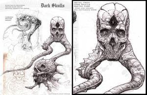 Dark Skulls- sketch page by andybrase