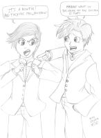 11th and 10th Doctor by MSMoura