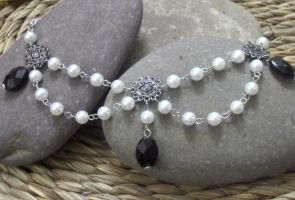 Renaissance Pearls and Black by TheBrassGlass