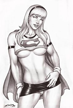 SUPERGIRL, SALE ON E-BAY NOW !!! by carlosbragaART80