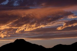 Sunset over South Mountain by danceafterdark
