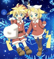 Merry Christmas Rin and Len Kagamine by Haruna-Chanx3