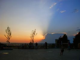 Sunset in Slatina by d7baly