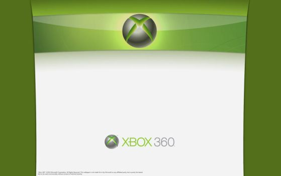 Xbox 360 - Green and White by AdmiralSerenity