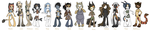 All my anthro females Updated by griffsnuff