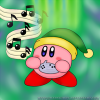 Ocarina of time Kirby by MarxKirby