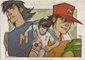 Captain Tsubasa - Holly and  Benji by DenisM79