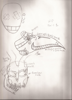 My creations masks (WIP) Part 1 by Dysfunctional-H0rr0r