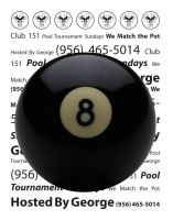 Club 151 - 8ball flyer by kwant