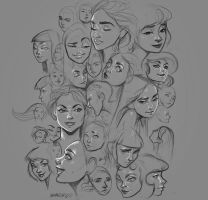 Faces by Amanda-Kihlstrom