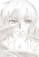 Lelouch pencil art by Sebbi-chan