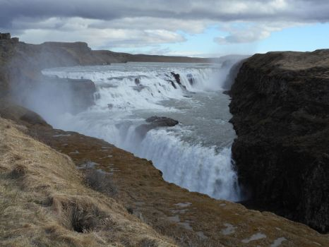 Iceland waterfall 1 by White-Feather