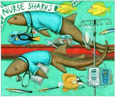 Nurse Sharks by NocturnalSea
