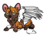 Chibi Wild Dog.:Commission:. by XxAngelsWingsX