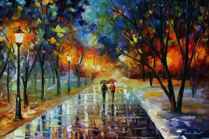 Winter Park by Leonid Afremov by Leonidafremov