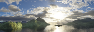 Terragen Panorama Test by alizarinerose