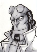 Hellboy Sketchcard by TheRigger
