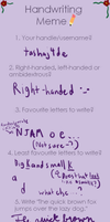 Handwriting meme by tashaj4de