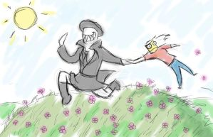 Skipping Through The Flowers by arcanineryu