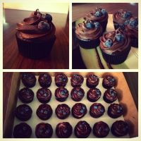 Dark Chocolate Cuppycakes by Deathbypuddle