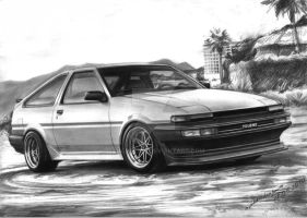 Toyota Corolla AE86 by sanchez567