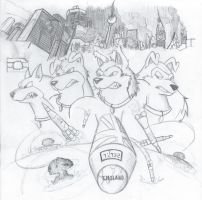 War Torn Rovers (uncolored) by Danny16543