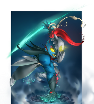 Undyne Redesign by CrystalKittyK