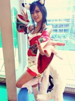 Ahri Cosplay from League of Legends Kittycannons by Owcocosplay