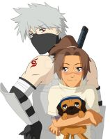 Kakashi, Iruka, and Pakkun by Mockingbyrd