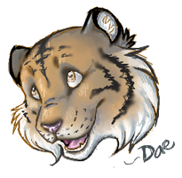 Iscribble Tiger Head by Daesiy