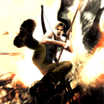 Lara Croft in action by Hefest0s