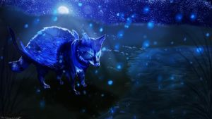 Midnight pond by watersee