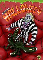 Beetlejuice - Happy Halloween by Xenia-Cat