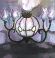609: Chandelure by rukoshi