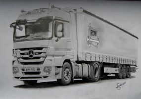 Mercedes-Benz Actros MP3 1844. My Father's Truck. by Maniek134