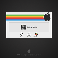 Ribbon Login for Snow Leopard by DeonMustard