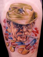 hunter s thompson by tat2istcecil