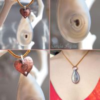 Simple Agate Pendant by popnicute