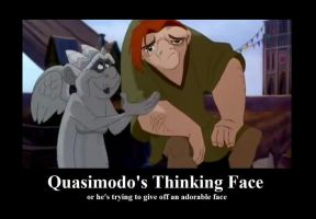 Quasimodo's Thinking Face by BelleSura