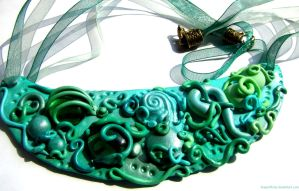 mint swirl burton inspired necklace by dragonflyme