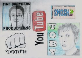the finebros, pewdiepie, smosh and tobuscus by lea33