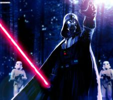 Vader On Endor!!! by geosis093