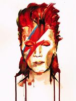 Portrait David Bowie by slauz
