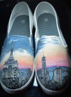 Cityscape Custom shoes by MonsterPaws